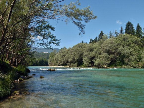 Bei 40 - 80 m3/s sehr gut befischbar, die Sava in den Revieren des RD Radovljica